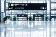 上海机场指示牌图片
