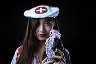 万圣节装扮护士人物图片