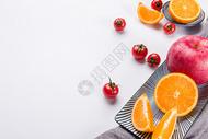 水果蔬菜摆盘背景图片