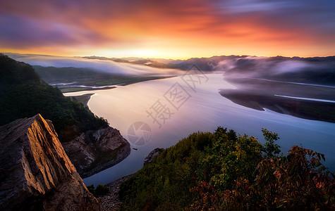 鸭绿江山水风光图片