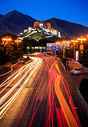 西藏拉萨布达拉宫夜景图片