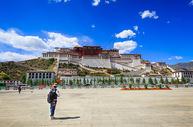 西藏拉萨壮观的布达拉宫图片