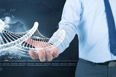 商人手上的DNA图片