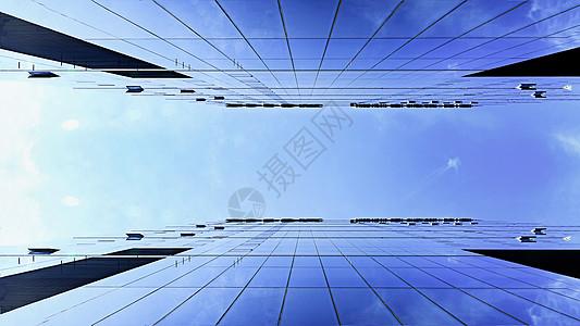 仰望广州天河CBD的高楼大厦图片