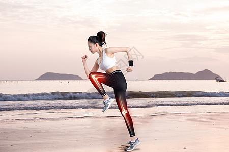 健身跑步的女性图片
