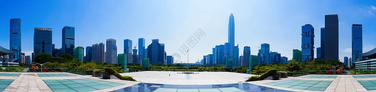 深圳市民中心广场全景图片
