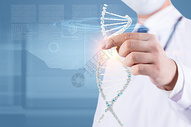 手拿基因结构图片