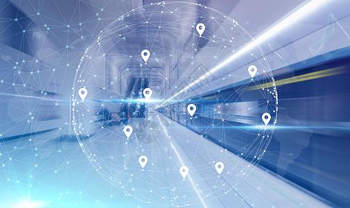轨交线路科技背景图片
