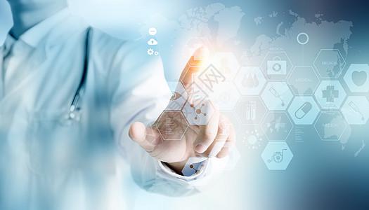 医生点击医学创新技术图片