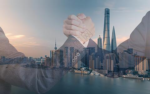 握手联合运输合作图片图片