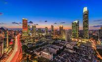 上海璀璨的夜景上海嘉里中心夜景图片