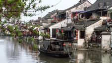 江南水乡西塘背景图片