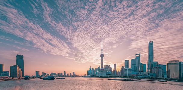 上海市地标建筑外滩日出图片