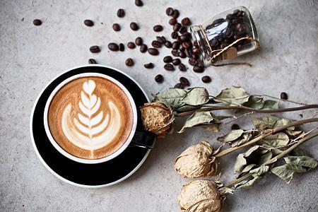 秋冬风格卡布奇诺咖啡图片