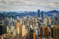 鸟瞰贵阳城市天际线图片