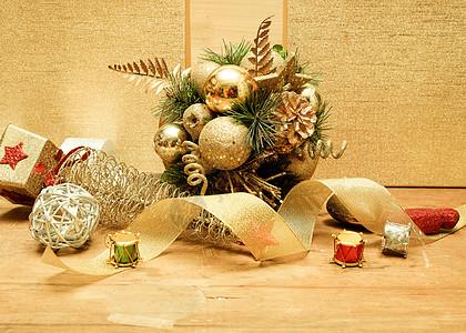圣诞装饰铺满桌面图片