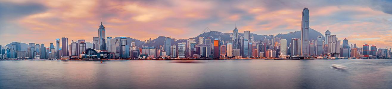 香港维多利亚湾日出图片