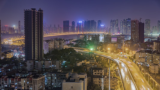 城市立交桥车流图片