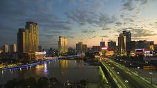 城市夕阳图片