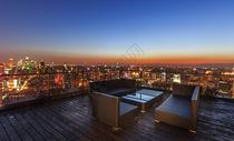 上海高楼风景景观绝佳的天台景观图片