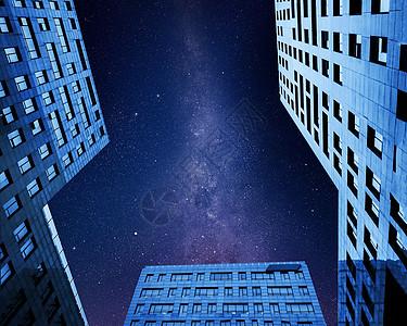 星空下的高楼大厦图片