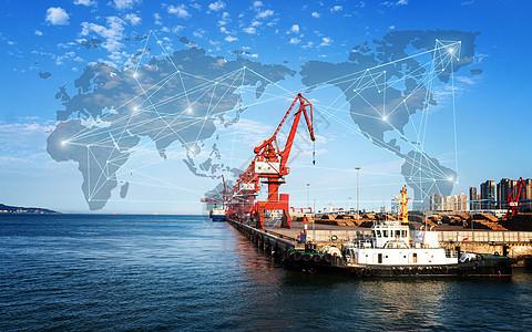 海港口海上运输路线图片