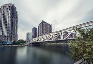 天津海河进步桥美景图片