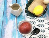 美味健康早餐咖啡番茄图片