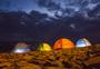 夜晚下的帐篷图片