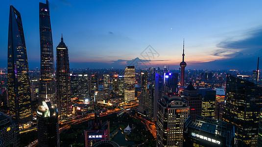 现代城市上海夜景图片