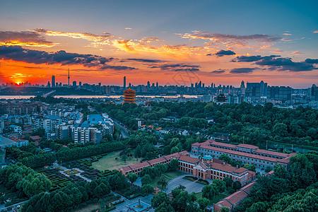 武汉城市风光黄鹤楼长江大桥图片