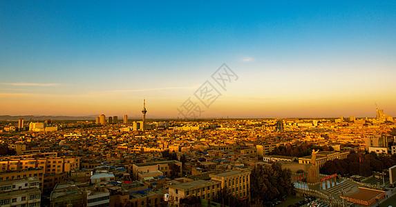 喀什古城的暮色图片