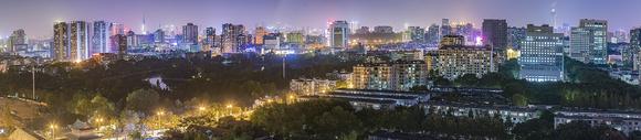 都市夜色全景美图图片