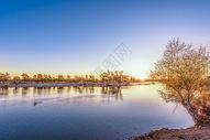 额尔齐斯河的夕阳图片