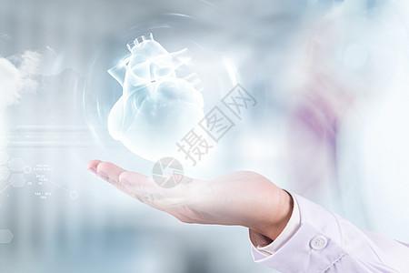 手托心脏的医生图片