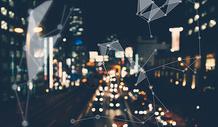 信息化城市背景图片