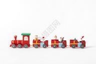 圣诞节装饰小火车图片