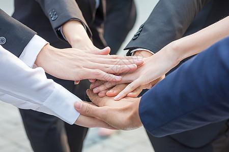 商务团队成员一起加油鼓励图片
