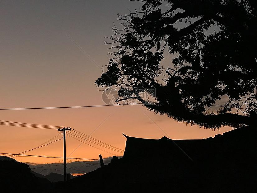 乡村黄昏图片