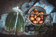 中国西部街头小菜摊图片