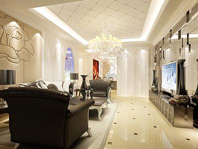 欧式客厅装修基础图高清图片