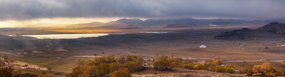 大美草原全景图片