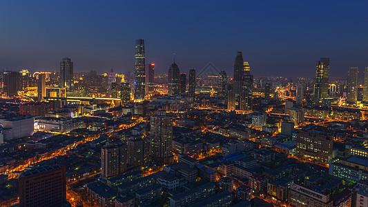 天津城市建筑夜景图片