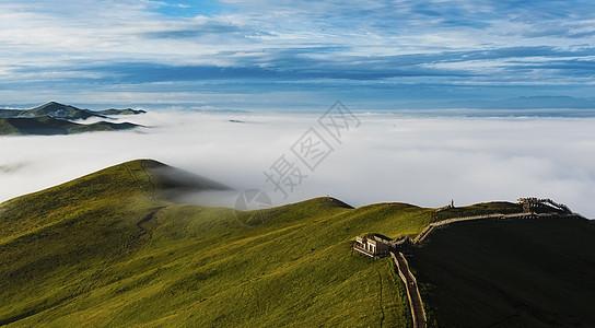 黄河第一湾晨雾图片