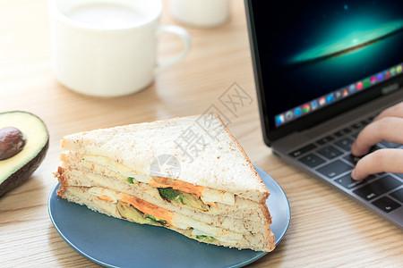 牛油果三明治下午茶图片