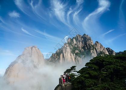 黄山山峰云海美景图片