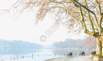 宁静的秋冬北山街图片