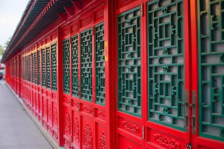 中国风建筑的门图片