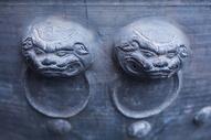 古建筑的门图片