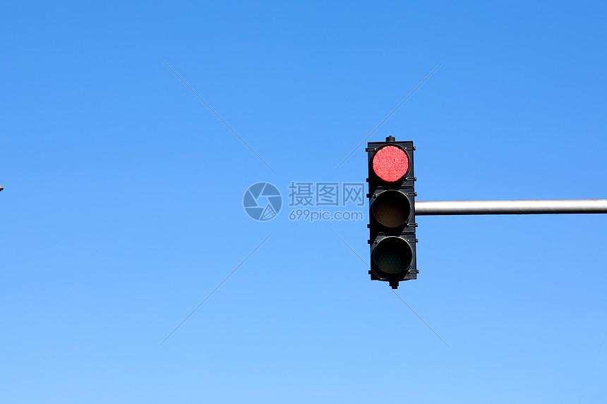 极简红绿灯图片
